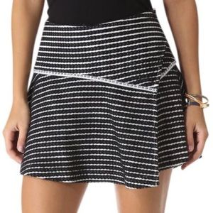 Free People Black and White Asymmetrical Skirt